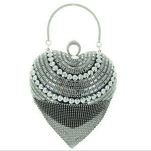 Handbags - NWT AUSTRIAN CRYSTAL RING/HEART SHAPED EVENING BAG
